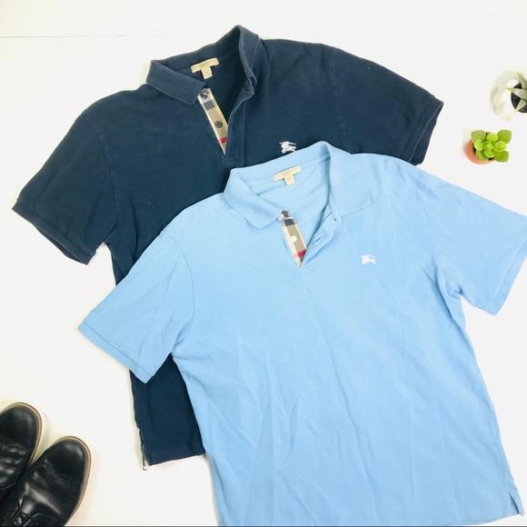 a062a178f Burberry Shirts   Bundle Of 2 Nova Check Polos Sz Large   Poshmark